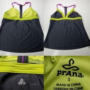 S PRANA tankini swimsuit active bikini top SMALL